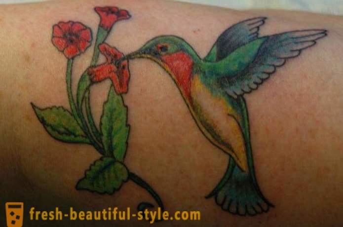 Hummingbird Tatuaż Symbol Witalności I Energii